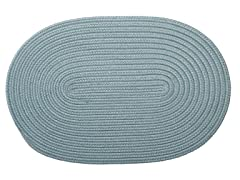 Federal Blue Braided-Texture Rugs