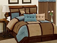 Dareen 7pc Comforter Set - Aqua - 2 Sizes