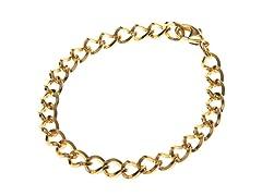 18K Gold Plated Charm Link Bracelet