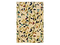 Fiesta  Ivory Leave Rug (Multiple Sizes)