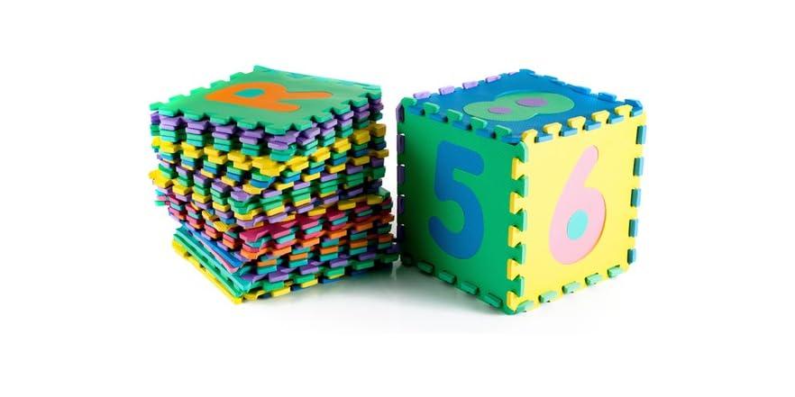 96pc Foam Floor Alphabet Amp Number Puzzle Mat Kids Amp Toys
