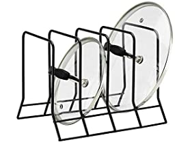 Kitchen Bakeware Pot Lid Rack Holder Org