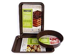 3-Pc Bakeware Set - Granite Brown