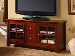 "52"" Wood TV Stand Console - Brown"