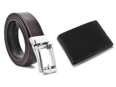 Men Genuine Leather Belts & Wallet