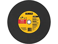 "Dewalt Dw8021R 14"" X 1/8"" X 20Mm Type 1 Aluminum Oxide A24P High Speed Rail Cutting Wheel"