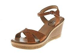Carrini Wedge Sandal, Tan/Tan