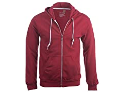 Goldtoe Men's Fleece Full Zip Hoodie, Independence Red, M
