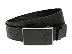 Ashworth Plaid Debossed Leather Belt