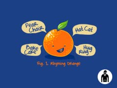 Rhyming Orange Kids PO Hoodie