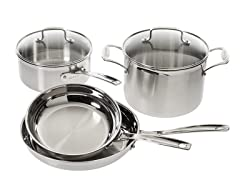 Cuisinart Multiclad Stainless 6PC Cookware Set