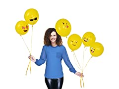 Emoji Party Baloons, 6 Faces - 72 pack