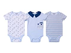 Blue Bodysuit 3-Pack (0-9M)