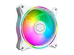 MasterFan MF120 Halo White Edition Duo-Ring ARGB Lighting Fan