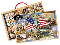 American Presidents - 2 Puzzles in Box