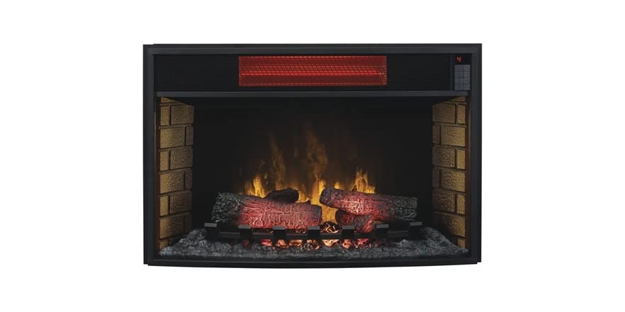 Media Mantel w/Electric Fireplace Insert
