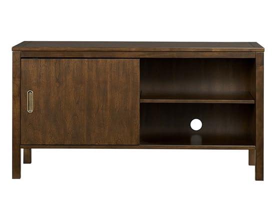 4 shelf tv console w sliding doors. Black Bedroom Furniture Sets. Home Design Ideas