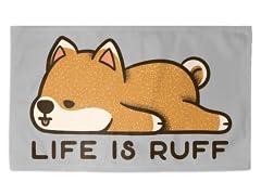 """""""Life is Ruff"""" 3' x 2' Rug"""