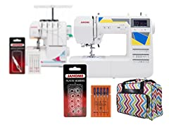 Janome Serger or Computerized Sewing Machine Bundle