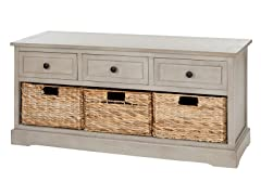 Damien 3 Drawer Storage - Grey