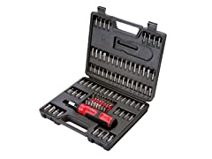 Ratchet Screwdriver/Bit Set, 105-Piece