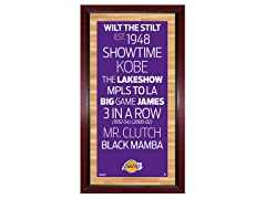 "Los Angeles Lakers 16"" x 32"" Sign"