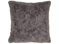 Rivet Glam Soft Faux Fur Throw Pillow