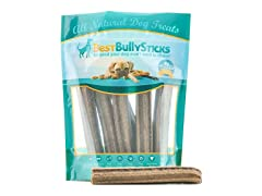 Best Bully Sticks Jumbo Dental Dog Treats (6-Pack)