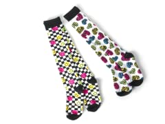 Smiley & Hearts Knee Socks (2 pair)