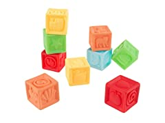 Squeezable BPAFree Rubber Number Blocks