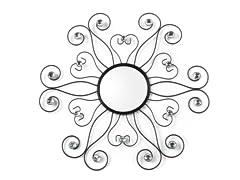 """23.5"""" Scroll Beaded Flower Mirror"""