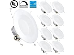13W Dimmable LED Recessed Lighting Fixture (8-Pack)
