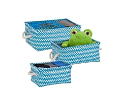 Honey Can Do Zig Zag Baskets- 3 PK