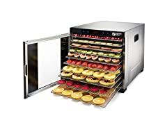 Magic Mill Stainless Steel 10 Tray Food Dehydrator