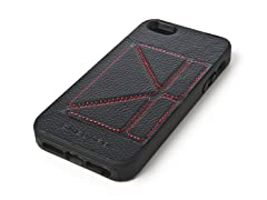Case w/Stand for iPhone 5 - Black/Red