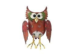 "Santa's Workshop 14"" Iron Brown Barn Owl"