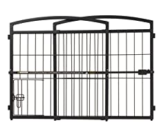 Outdoor Expandable Gate with Pet Door