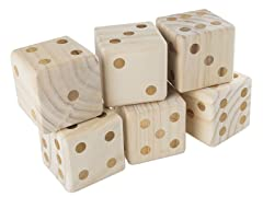 Giant Wooden Outdoor Dice Game with Case