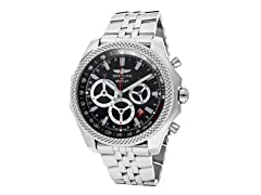 Black Dial Stainless Steel Chronograph