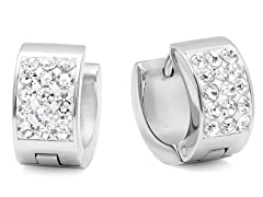 Huggie Earrings w/ Sim. Diamond Accent