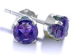 .33ct Amethyst Stud Earrings