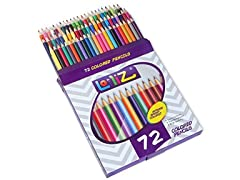 LolliZ 72 Colored Pencils Set, w/ 72 Unique Colors