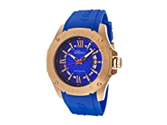 Elini Barokas Blue and Rose Gold Watch