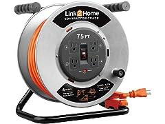 Link2Home 75' Contractor Grade Metal Cord Reel