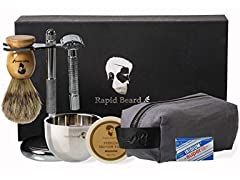 Rapid Beard Wet Shave Kit for Men