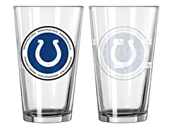 Indianapolis Colts ROH Pint Glasses (2)