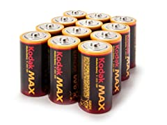 Kodak D Alkaline Batteries - 12 Pack