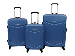 Priority Access 3pc Hardshell Luggage Set - Blue