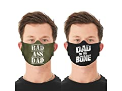 Father's Day Reusable Face Mask 2-Pack