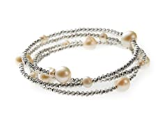 Freshwater Pearl and Bead Coil Bracelet